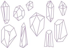 Gratis kristallen vectoren