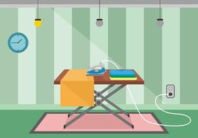 Ironing Board Flat Vector