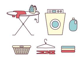 Laundry Elements vector