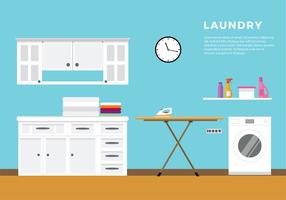Laundry Flat Vector Free Vector