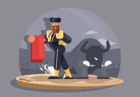 Bull Fighter Illustration