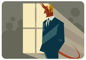 Devil-in-the-window-vector