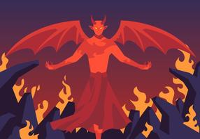Lucifer In Hell Vector