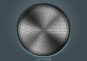 Vector Illustration Of A Speaker Grill
