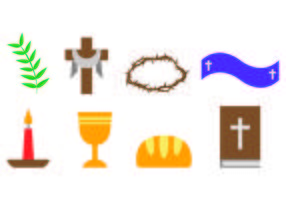 Set Of Lent Icons