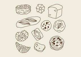Baked Dough Pastries vector