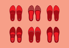 Robijn slippers vector