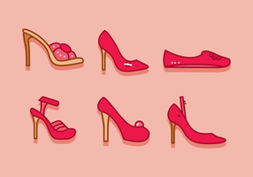 Ruby chinelos mulher sapatos vetor