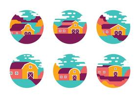 Iconos Bright Barn Vector