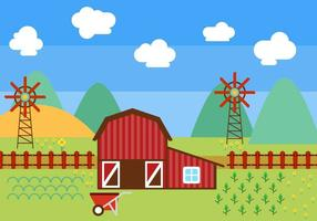 Free Beautiful Red Barn Vektor