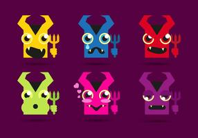 Lucifer Devils Emojis Emoticons Vector