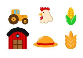Farm and Barn Icon Vector
