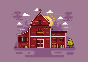 Free Red Barn Vector