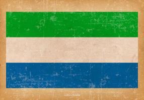 Grunge flagga av sierra leone