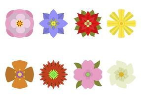 Flache Blumenvektoren