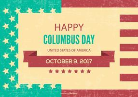 Retro stil Columbus dag illustration