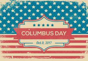 Retro Grunge Style Columbus Day Illustration