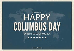 Retro Typographic Columbus Day Illustration