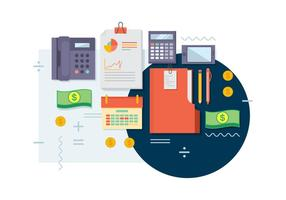 Free Bookkeeping Vector Illustration