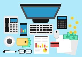 Kostenlose Buchhaltung und Buchhaltung Vektor