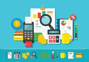 Financial Accounting And Bookkeeping Concept vector