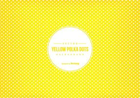 Yellow Polka Dot Scrapbook Background