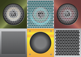 Speaker Grill Vector Illustration