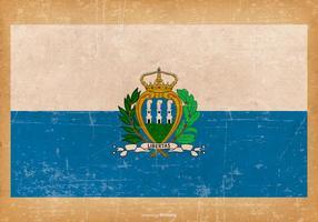 Grunge flagga San Marino