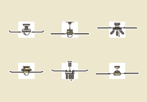 Ceiling Fan Free Vector Pack