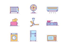 Household Objects Icon Pack vector