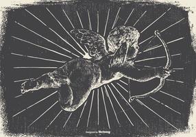 Antiguo ángel del vintage / ilustración del Cupid