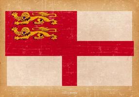Grunge Flagge von Sark