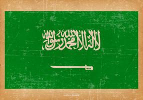 Bandiera del grunge dell'Arabia Saudita