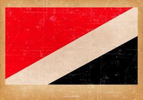 Grunge Flagge von Sealand Fürstentum