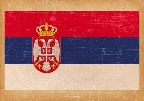 Grunge flagga av Serbien
