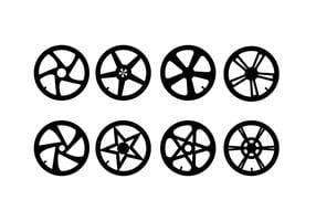 Motorcycle Hubcap Vector Set