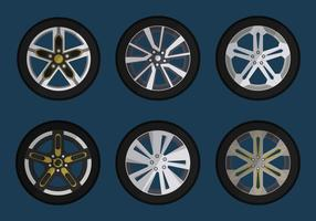 Hubcap For Car Vector Collection
