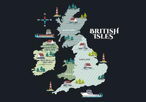 British Isles and Republic of Ireland Vector Illustration