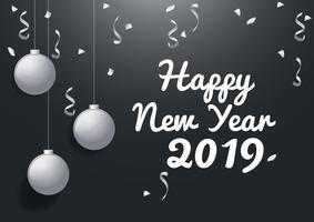New Year 2019 Background vector