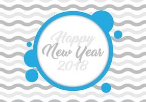 New Year 2018 Card vector