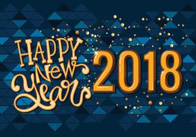 Happy New 2018 Year Greeting Card Vector