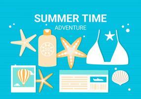 Fond d'écran gratuit d'éléments d'été