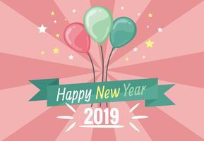 Fondo del vector del Año Nuevo feliz