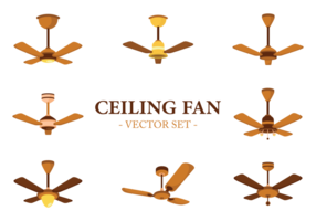 Ceiling Fan Icons Vector