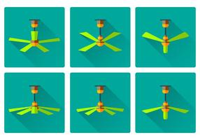 Ceiling Fan flat Icon