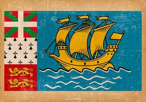 Drapeau grunge de Saint Pierre et Miquelon