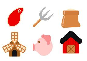 Cattle Raising Icon Vector
