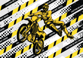 Motorcross Vector Illustratie