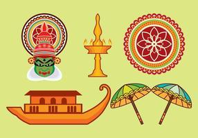 Kerala vektor ikoner uppsättning