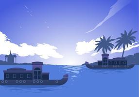 Kerala båt fri vektor